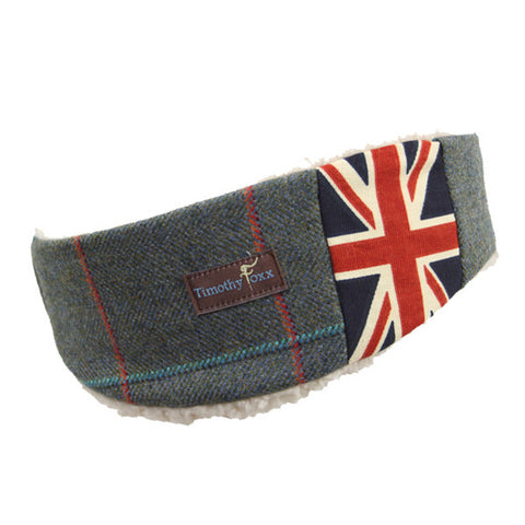 Union Jack Tweed Ear Warmer in Harmony