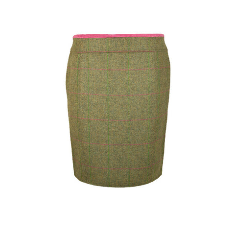 Hazel Tweed Skirt in Coral