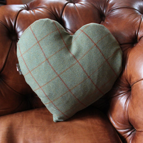 Heart Tweed Cushion
