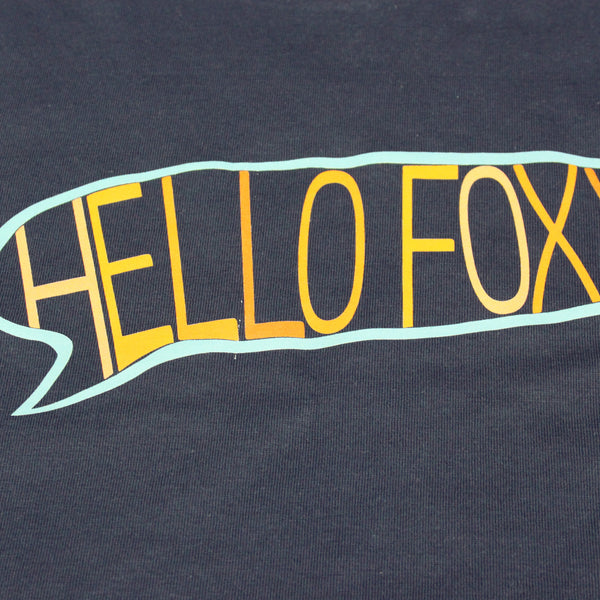 'Hello Foxxy' Tee in Navy