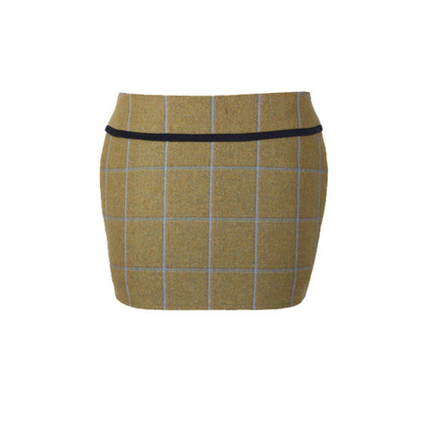 Holly Tweed Skirt in Amber