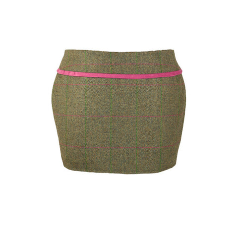 Holly Tweed Skirt in Coral