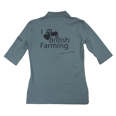 I Heart British Farming Polo in Airforce