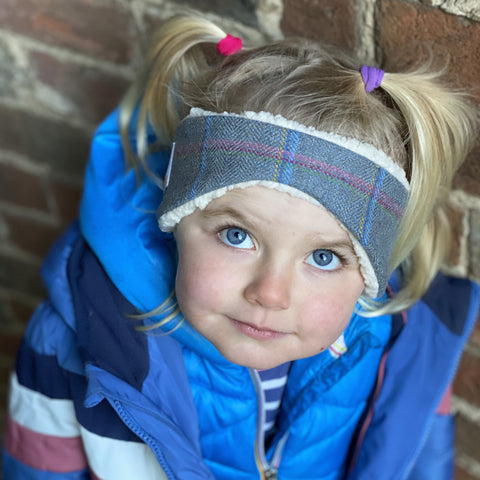 Children's Earwamer in Igloo Tweed