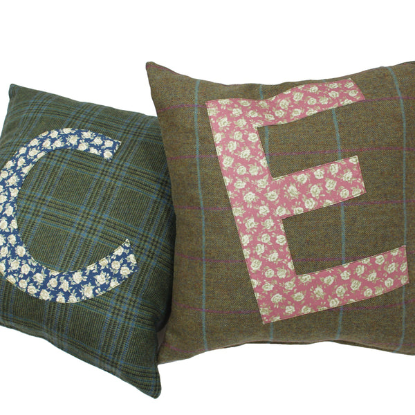 INITIALS Tweed Cushion