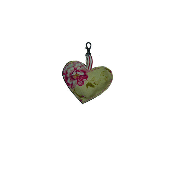 Tweed Heart Key Ring