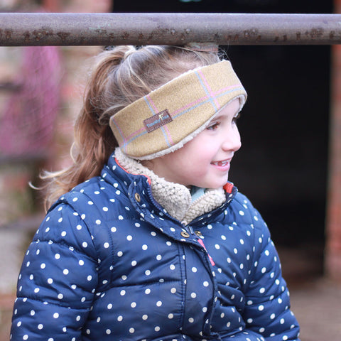 Children's Earwarmer in Wheat Tweed