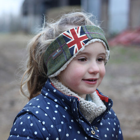 Children's Earwarmer in Union Jack Belle