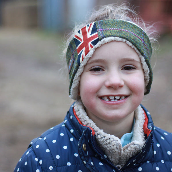 New Children's Earwarmer in Union Jack Belle