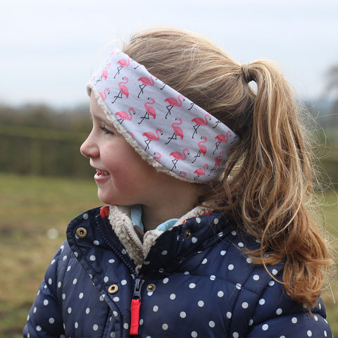 Children's Earwarmer in Flamingo
