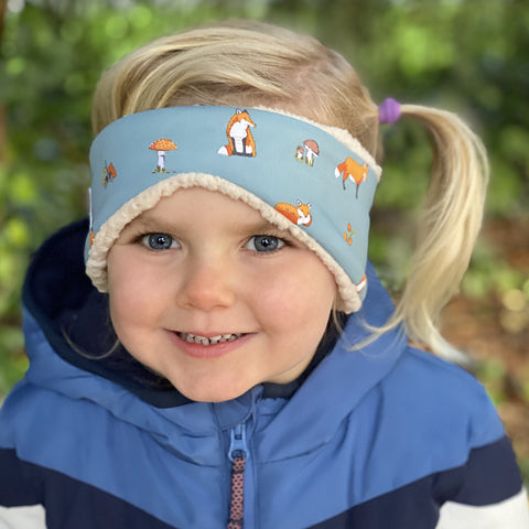 Children's Earwarmer in Woodland Foxx