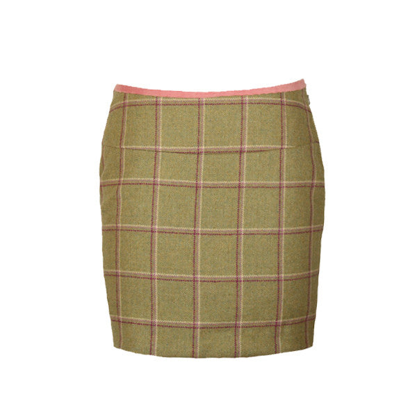 Lacey Tweed Skirt in Gooseberry