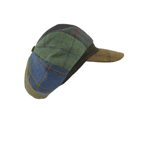 Lindsey Patchwork Tweed Cap - Woodland Peak