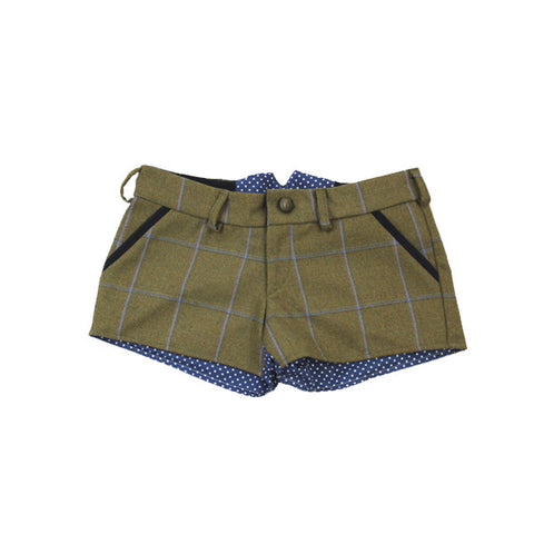 Livibum Tweed Shorts in Amber Spots