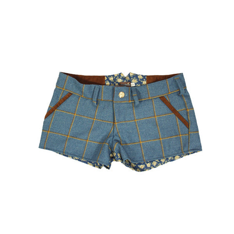 Livibum Tweed Shorts in Foxglove