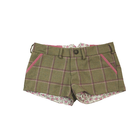 Livibum Full Tweed Shorts in Gooseberry