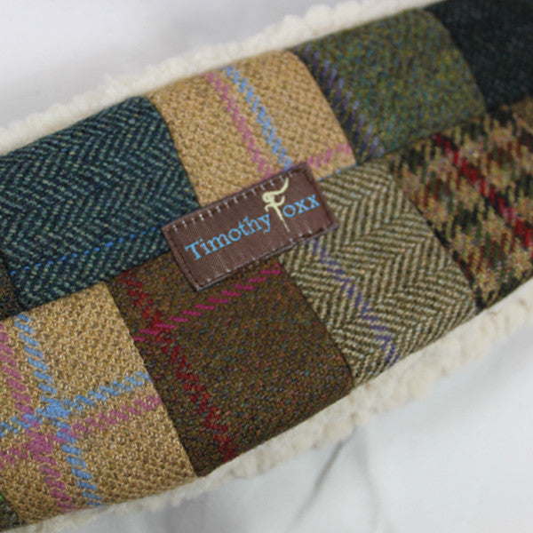 Unique Tweed Patchwork Ear Warmer