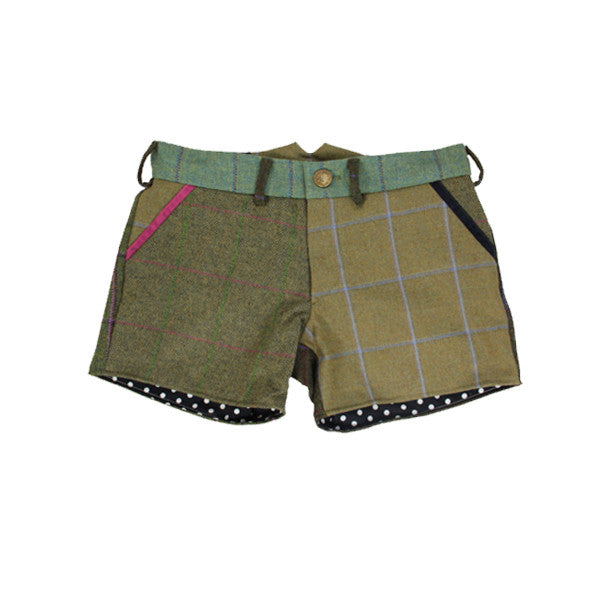 Penny Patchwork Tweed Shorts