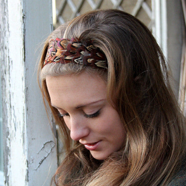 Pheasant Feather Head Band