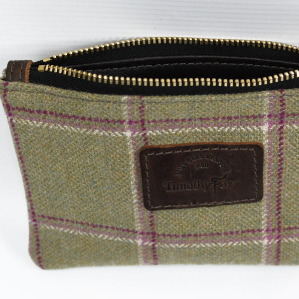 Mini Tweed Pouch in Gooseberry