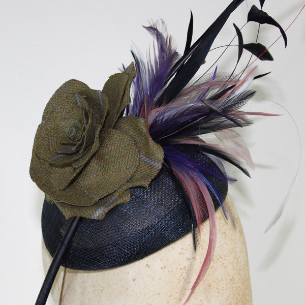 Tweed Rose and Quill Fascinator