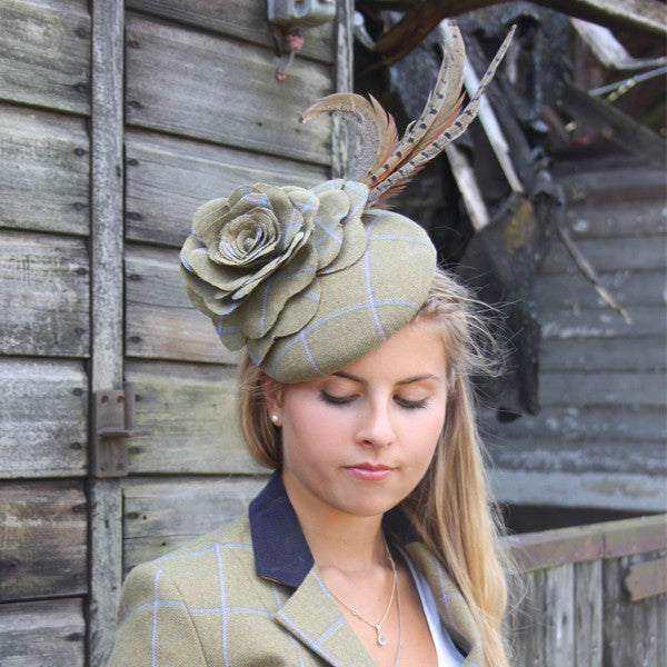 Tweed Rose Fascinator