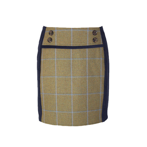 Ruby Tweed Skirt in Amber