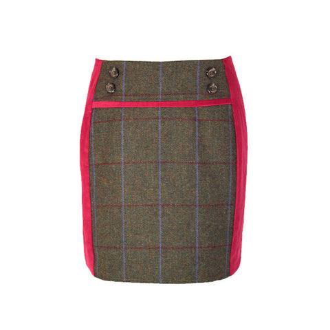 Ruby Tweed Skirt in Duchess
