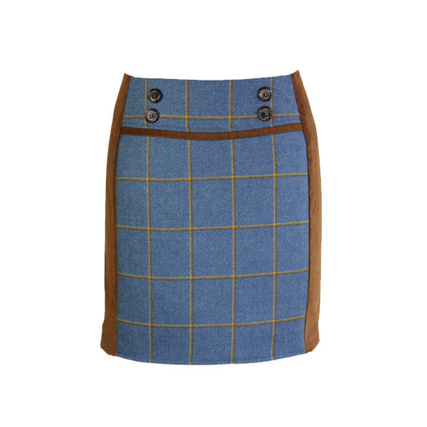 Ruby Tweed Skirt in Foxglove
