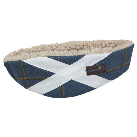 Scottish Flag Ear Warmer in Foxglove