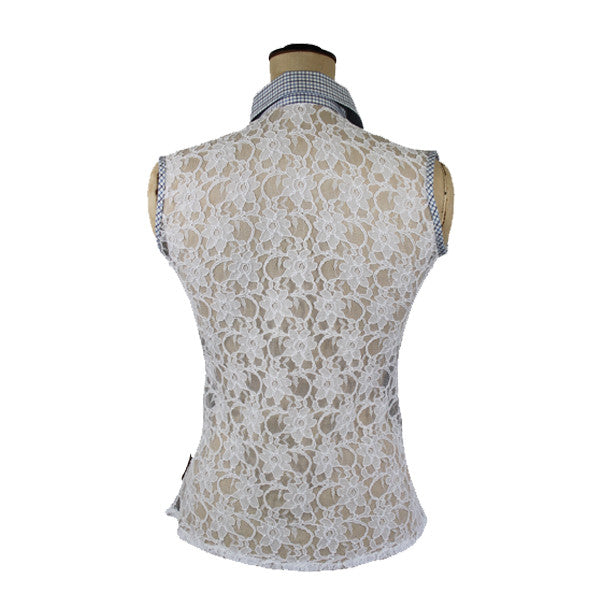 Sleeveless Shirt with Lace Back