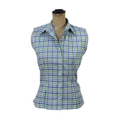 Sleeveless Shirt - Blue & Green