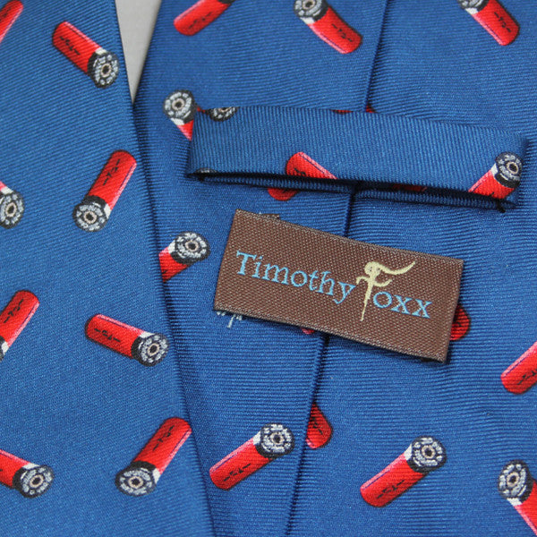 Silk Tie with Shotgun Cartridges