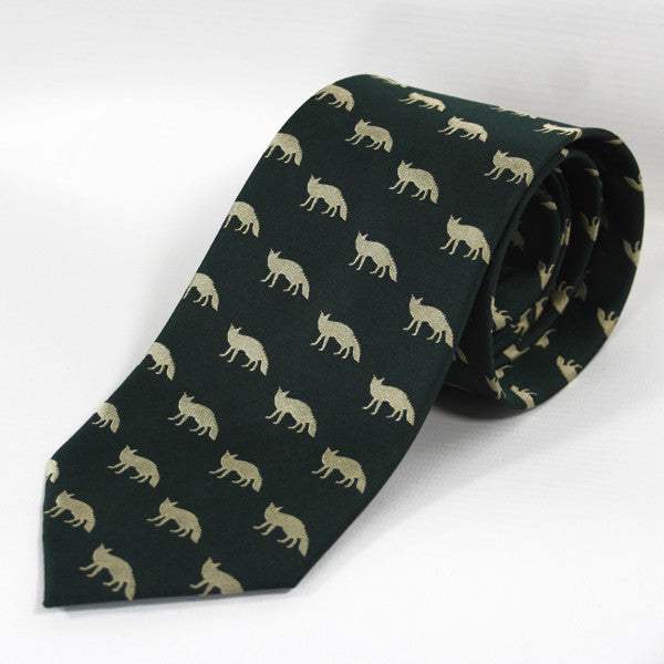 Silk Tie with Foxes