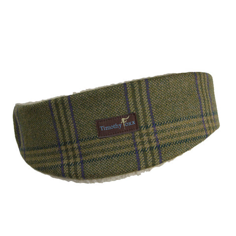 Tweed Ear Warmers in Teal