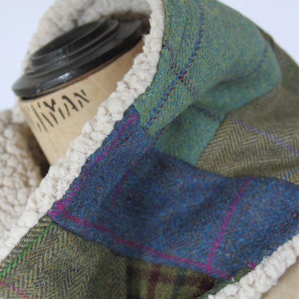 Fleecy Patchwork Tweed Scarf