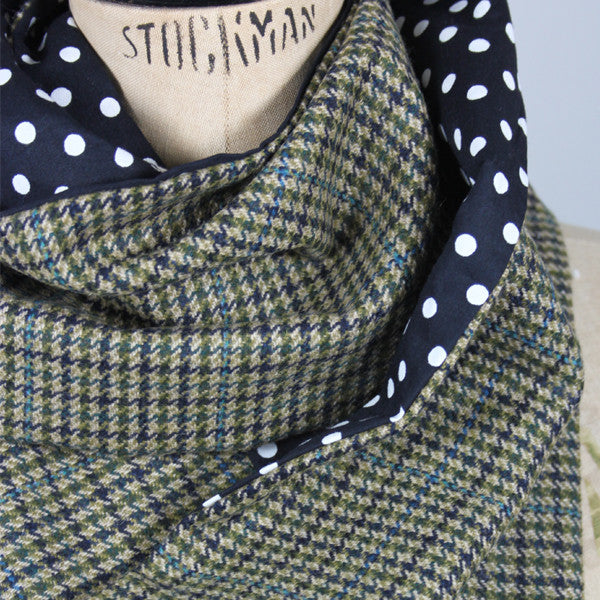 Vintage Blue & Green Scarf
