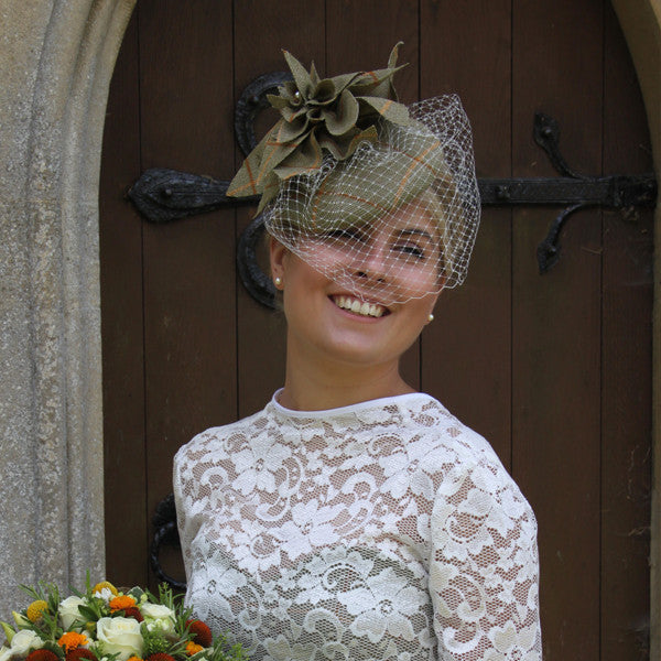 Wedding Tweed Fascinator