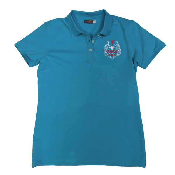 'We Do It In Tweed' Polo in Turquoise
