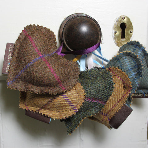 Hanging Tweed Hearts