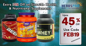 This Extra Discount on Health & Nutritional Supplements from HerbsPro India Will Save You a Lot!