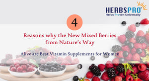 4 Reasons why the New Mixed Berries from Nature's Way Alive are Best Vitamin Supplements for Women