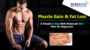 Muscle Gain & Fat Loss - A Simple 3-Step Well-Balanced Diet Plan for Beginners
