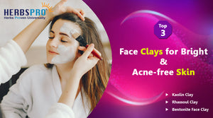 Top- 3 Face Clays for Bright & Acne-free Skin