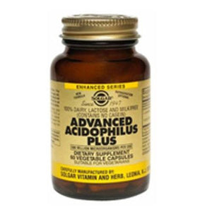 Advanced Acidophilus Plus Vegetable Capsules 240 V Caps By Solgar