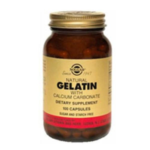 Gelatin Capsules (with Calcium) 100 Caps By Solgar