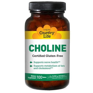 Choline 100 Tabs By Country Life