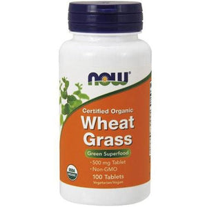 Organic Wheat Grass 100 Tabs By Now Foods