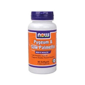 Pygeum & Saw Palmetto Extract 60 Sgels By Now Foods