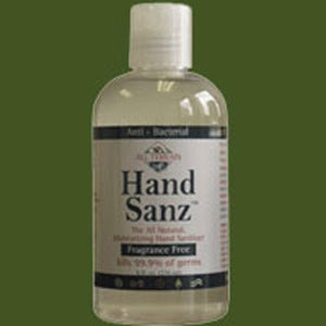 Hand Sanz Fragrance Free, 8 Oz By All Terrain
